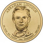 2010 Presidential Dollar Coin Abraham Lincoln Uncirculated Obverse