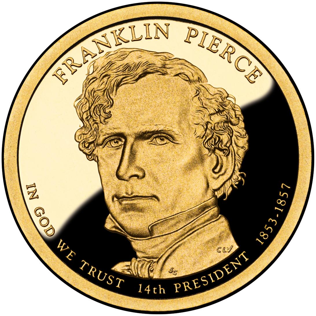 2010 Presidential Dollar Coin Franklin Pierce Proof Obverse