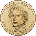 2010 Presidential Dollar Coin Franklin Pierce Uncirculated Obverse