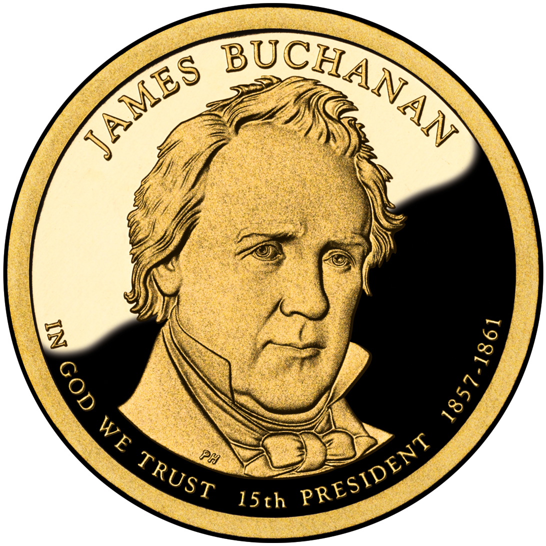 2010 Presidential Dollar Coin James Buchanan Proof Obverse