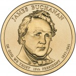 2010 Presidential Dollar Coin James Buchanan Uncirculated Obverse