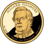 2010 Presidential Dollar Coin Millard Fillmore Proof Obverse