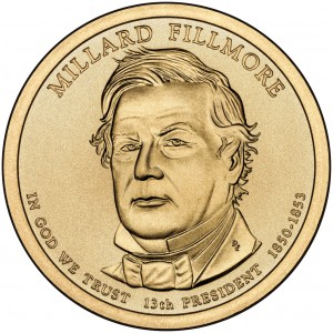 2010 Presidential Dollar Coin Millard Fillmore Uncirculated Obverse
