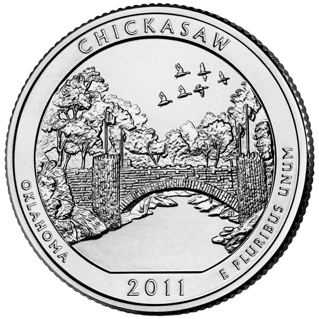 2011 America The Beautiful Quarters Coin Chickasaw Oklahoma Uncirculated Reverse