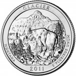 2011 America The Beautiful Quarters Coin Glacier Wyoming Uncirculated Reverse