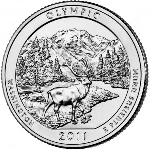 2011 America The Beautiful Quarters Coin Olympic Washington Uncirculated Reverse