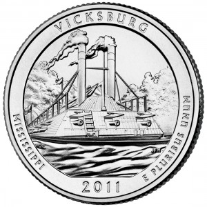 2011 America The Beautiful Quarters Coin Vicksburg Mississippi Uncirculated Reverse