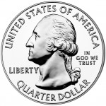 2011 America The Beautiful Quarters Five Ounce Silver Bullion Coin Obverse