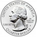2011 America The Beautiful Quarters Five Ounce Silver Uncirculated Coin Obverse