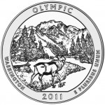 2011 America The Beautiful Quarters Five Ounce Silver Uncirculated Coin Olympic Washington Reverse