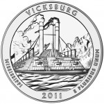 2011 America The Beautiful Quarters Five Ounce Silver Uncirculated Coin Vicksburg Mississippi Reverse