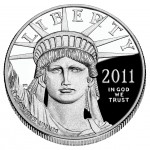 2011 American Eagle Platinum One Ounce Proof Coin Obverse
