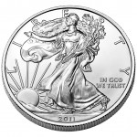 2011 American Eagle Silver One Ounce Bullion Coin Obverse