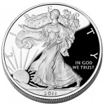 2011 American Eagle Silver One Ounce Proof Coin Obverse