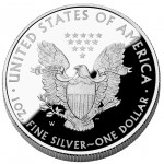 2011 American Eagle Silver One Ounce Proof Coin Reverse