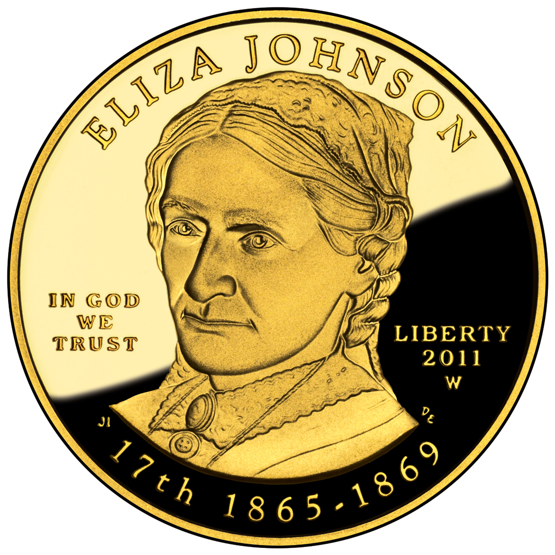 2011 First Spouse Gold Coin Eliza Johnson Proof Obverse