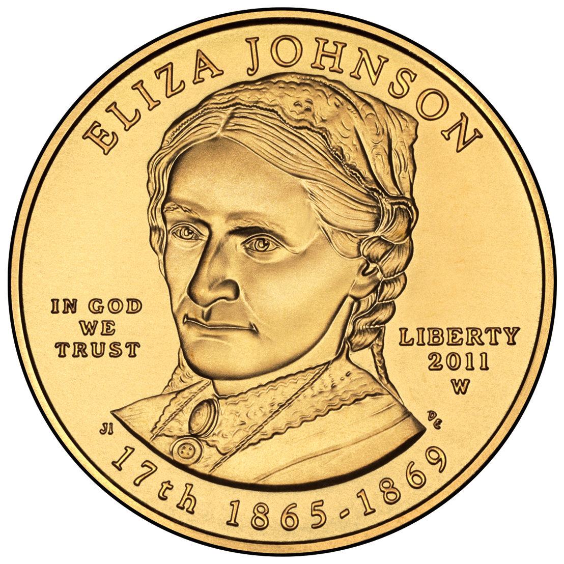 2011 First Spouse Gold Coin Eliza Johnson Uncirculated Obverse
