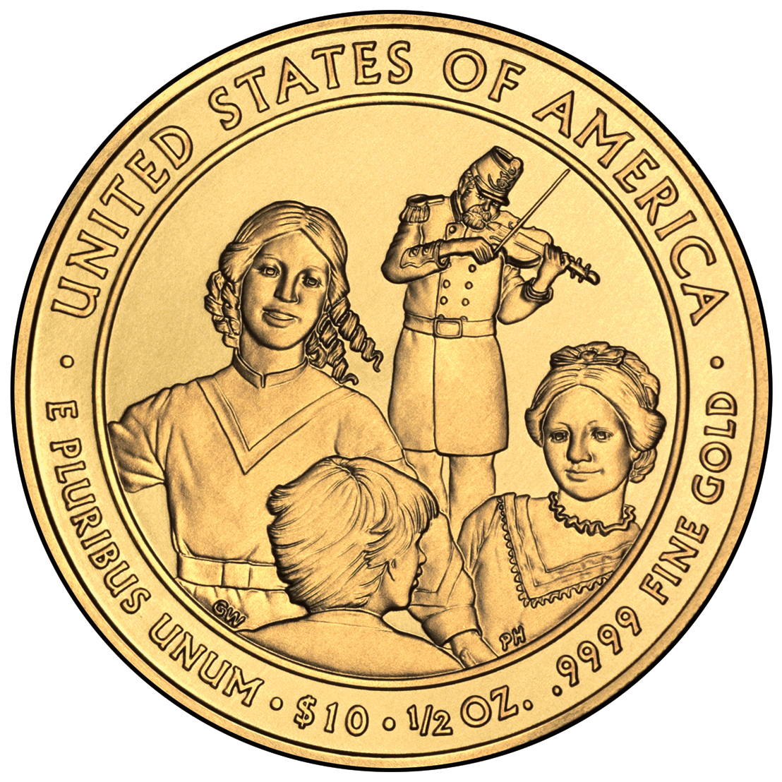 2011 First Spouse Gold Coin Eliza Johnson Uncirculated Reverse