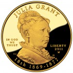 2011 First Spouse Gold Coin Julia Grant Proof Obverse