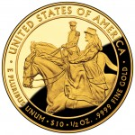 2011 First Spouse Gold Coin Julia Grant Proof Reverse