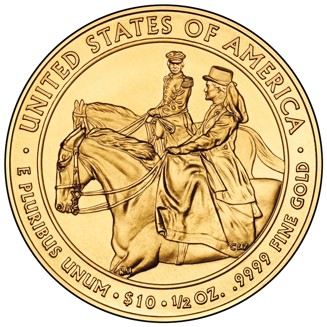 2011 First Spouse Gold Coin Julia Grant Uncirculated Reverse