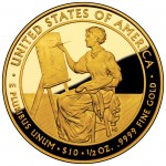 2011 First Spouse Gold Coin Lucretia Garfield Proof Reverse