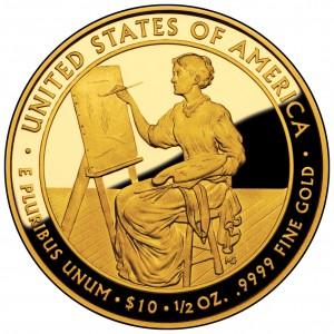 2011 First Spouse Gold Coin Lucretia Garfield Proof Reverse