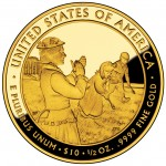 2011 First Spouse Gold Coin Lucy Hayes Proof Reverse