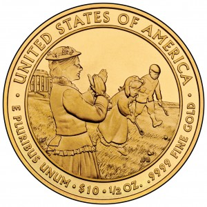 2011 First Spouse Gold Coin Lucy Hayes Uncirculated Reverse