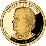 2011 Presidential Dollar Coin Andrew Johnson Proof Obverse