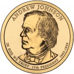 2011 Presidential Dollar Coin Andrew Johnson Uncirculated Obverse