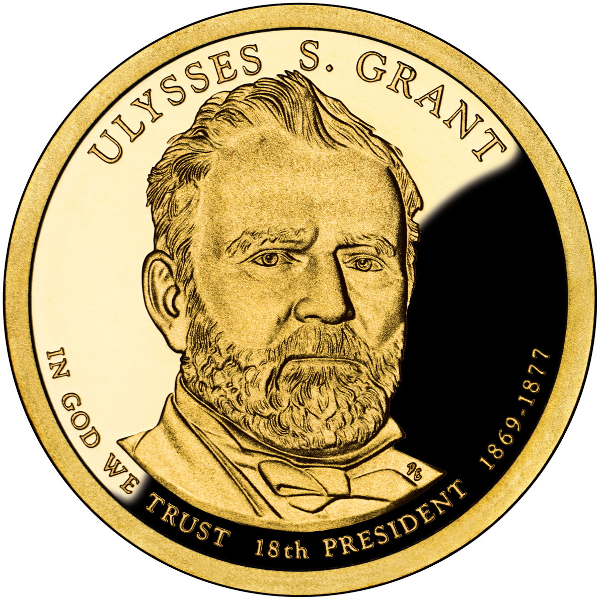 2011 Presidential Dollar Coin James Garfield Proof Obverse