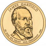 2011 Presidential Dollar Coin James Garfield Uncirculated Obverse