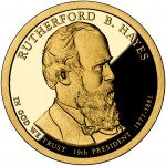 2011 Presidential Dollar Coin Rutherford B. Hayes Proof Obverse