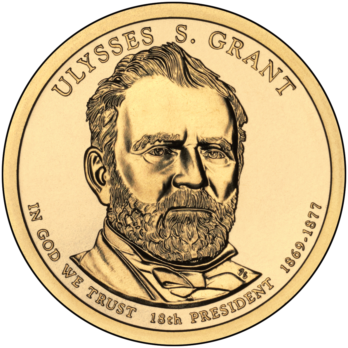 2011 Presidential Dollar Coin Ulysses S. Grant Uncirculated Obverse