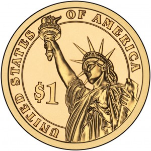 2011 Presidential Dollar Coin Uncirculated Reverse