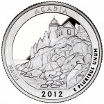 2012 America The Beautiful Quarters Coin Acadia Maine Proof Reverse
