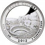 2012 America The Beautiful Quarters Coin Chaco Culture New Mexico Proof Reverse