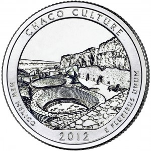 2012 America The Beautiful Quarters Coin Chaco Culture New Mexico Uncirculated Reverse