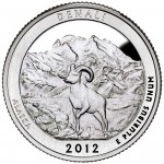 2012 America The Beautiful Quarters Coin Denali Alaska Proof Reverse