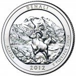 2012 America The Beautiful Quarters Coin Denali Alaska Uncirculated Reverse