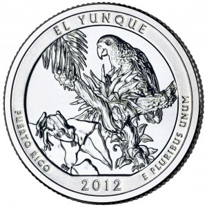 2012 America The Beautiful Quarters Coin El Yunque Puerto Rico Uncirculated Reverse