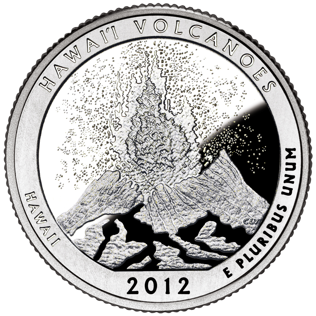 2012 America The Beautiful Quarters Coin Hawaii Volcanoes Hawaii Proof Reverse