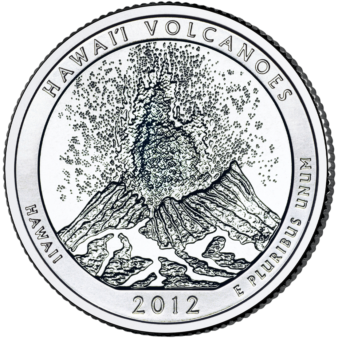 2012 America The Beautiful Quarters Coin Hawaii Volcanoes Hawaii Uncirculated Reverse