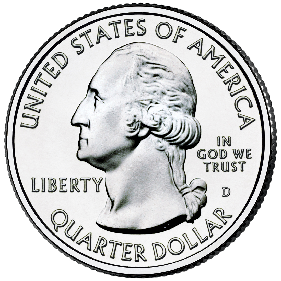 2012 America The Beautiful Quarters Coin Uncirculated Obverse D
