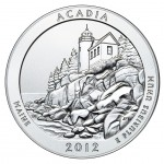 2012 America The Beautiful Quarters Five Ounce Silver Uncirculated Coin Acadia Maine Reverse