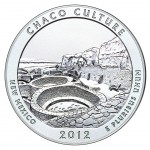 2012 America The Beautiful Quarters Five Ounce Silver Uncirculated Coin Chaco Culture New Mexico Reverse