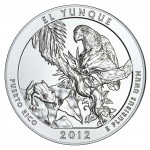 2012 America The Beautiful Quarters Five Ounce Silver Uncirculated Coin El Yunque Puerto Rico Reverse