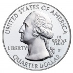 2012 America The Beautiful Quarters Five Ounce Silver Uncirculated Coin Obverse
