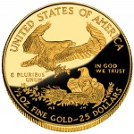 2012 American Eagle Gold Half Ounce Proof Coin Reverse